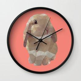 Peanut Bunny the Rabbit Polygon Art Wall Clock