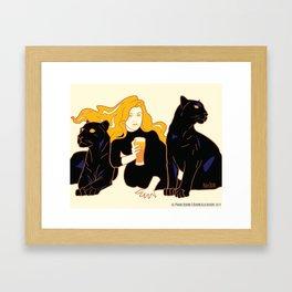 Panther Brews Framed Art Print