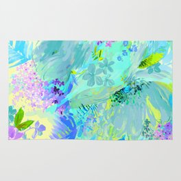 abstract floral Rug