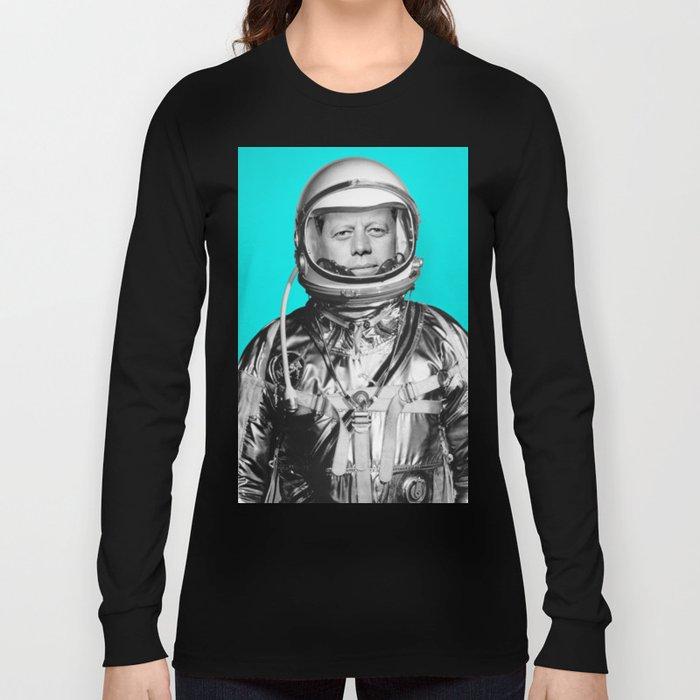 "JFK ASTRONAUT (or ""All Systems Are JFK"") Long Sleeve T-shirt"
