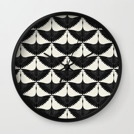 CRANE DESIGN - pattern - Black and White Wall Clock