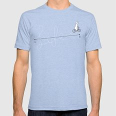 Life is a Journey Tri-Blue Mens Fitted Tee SMALL