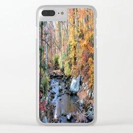 Autumn Woodlands Clear iPhone Case