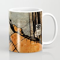 borderlands Mugs featuring Leroy And The Five Dancing Skulls Of Doom by Matthew Dunn