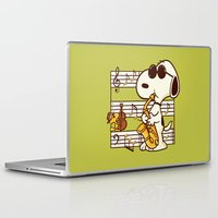 snoopy Laptop & iPad Skins featuring Happiness is Music by Enkel Dika