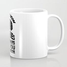 Look Out - Zombies Eat Brains Joke Coffee Mug