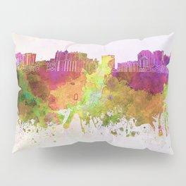 Sarasota skyline in watercolor background Pillow Sham