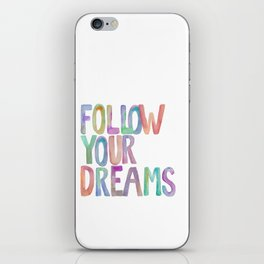 Inspirational Quote Watercolor Letters Typography Print Wall Art Motivational Quote Printable Art iPhone Skin
