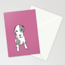 Millie The Pitbull Puppy Stationery Cards