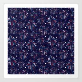 Star Spangled Night Art Print