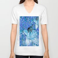 lily V-neck T-shirts featuring Lily  by Saundra Myles