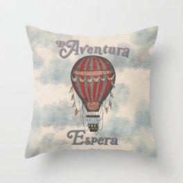 La Aventura Espera (Adventure Awaits in Spanish) Throw Pillow