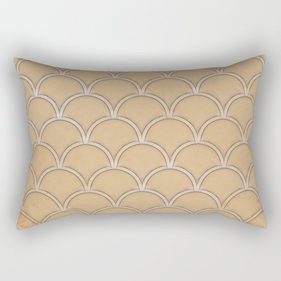 Abstract large scallops in iced coffee with texture Rectangular Pillow