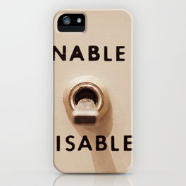 Enable Disable Switch iPhone Case