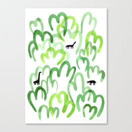 Animals in the forest Canvas Print