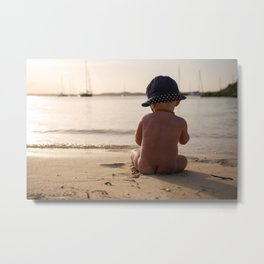 Beach baby- holiday dreams-travel photography Metal Print