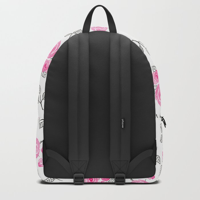 Pink watercolor roses pattern Backpack