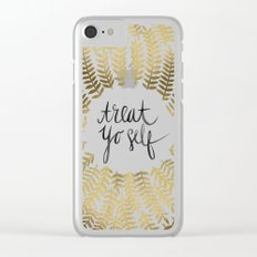 Treat Yo Self – Gold Clear iPhone Case