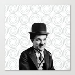 Charlie Chaplin Old Hollywood Canvas Print