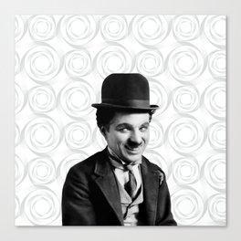 Charlie Chaplin Old Hollywood Canvas Print