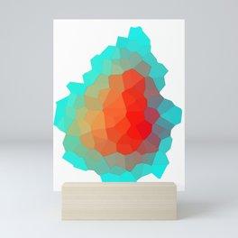 Abstract Ripe pear Mini Art Print
