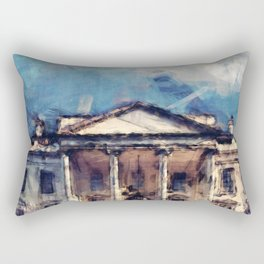 White House On A Sunny Day Rectangular Pillow