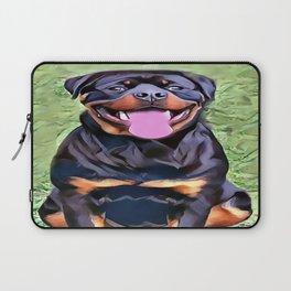 Happy Rottweiler Laptop Sleeve