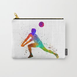Volley ball player man 03 in watercolor Carry-All Pouch