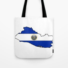 El Salvador Map with Salvadoran Flag Tote Bag