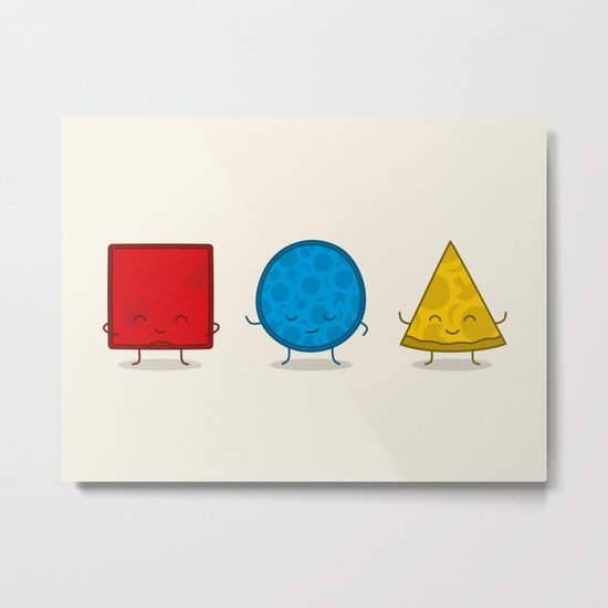 Bauhaus Pizza - Cute Doodles Metal Print