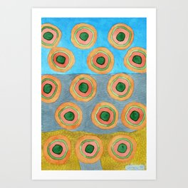 Circles in Front of a Beach Art Print
