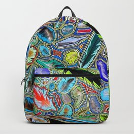 Feathers of birds of the world Backpack