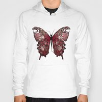 gothic Hoodies featuring Gothic Butterfly by baba yagada