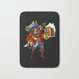 Pirate Sailor Drinking Beer Party Bath Mat