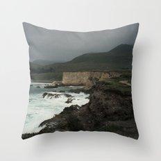 Montaña De Oro Stormy Hills Throw Pillow