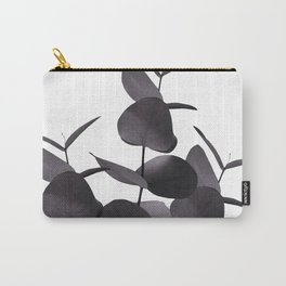 Eucalyptus Leaves Black White #1 #foliage #decor #art #society6 Carry-All Pouch