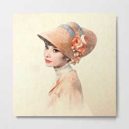 Eliza Doolittle - Watercolor Metal Print