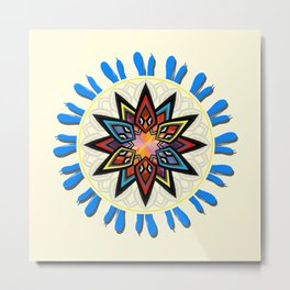 Colorful star Metal Print