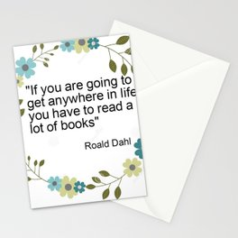 a book quote Stationery Cards