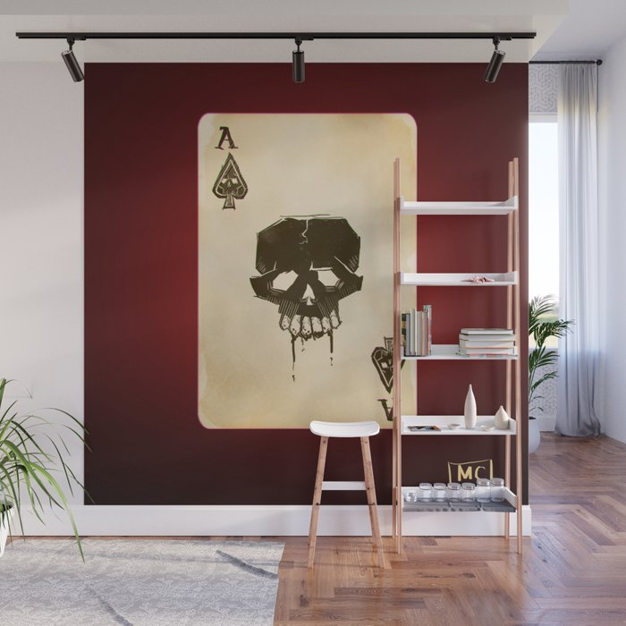 Ace of Spades Game Playing Card Wall Mural by marcuscoltin