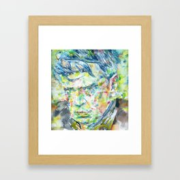 ANTHONY BURGESS - watercolor portrait Framed Art Print