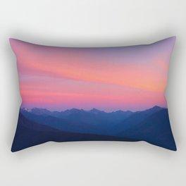 Olympic Mountain Sunset Rectangular Pillow