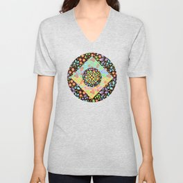 Filigree Floral Patchwork (printed) Unisex V-Neck