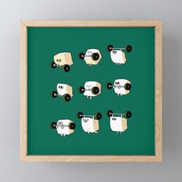 OLYMPIC LIFTING  Tofu Framed Mini Art Print