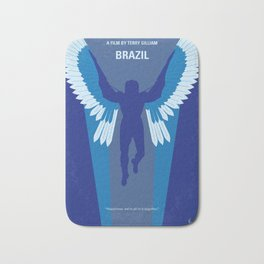 No643 My Brazil minimal movie poster Bath Mat