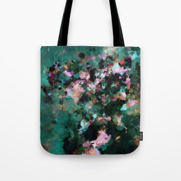 Contemporary Abstract Wall Art in Green / Teal Color Tote Bag