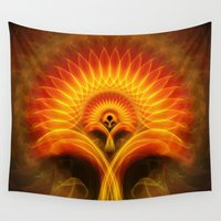 tree of life Wall Tapestries featuring Life Tree by Christine baessler