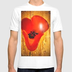 Coquelicot Mens Fitted Tee White MEDIUM