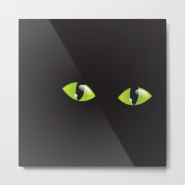 Green Cat Eyes  Metal Print