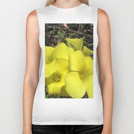 Yellow clover flowers Biker Tank
